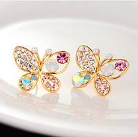Сережки Веселі метелики, фото 1