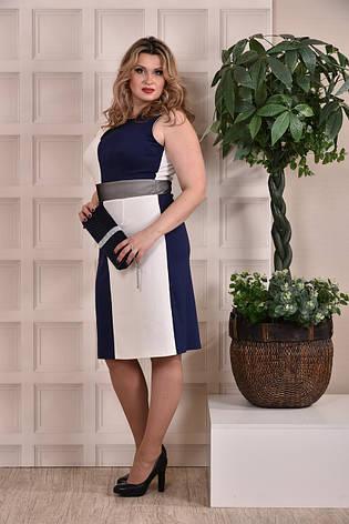 Женское платье больших 60+ размеров 0228 синее, фото 2