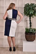 Женское платье больших 60+ размеров 0228 синее, фото 3