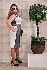 Женское платье больших 60+ размеров 0228 серое, фото 2