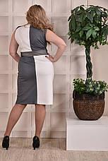 Женское платье больших 60+ размеров 0228 серое, фото 3