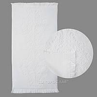 Полотенце махровое белого цвета Монако 50х90