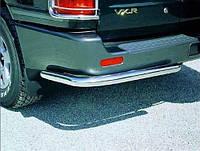 Защита заднего бампера Toyota LC 100 1998-2007