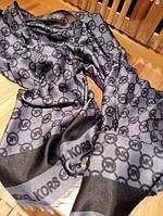 Тонкий хлопковый шарф Michael Kors серый