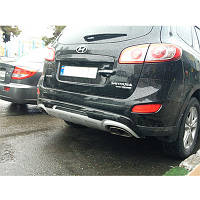 Накладка на бампер Hyundai Santa Fe 2010-2012