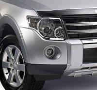 Хром накладки фар Mitsubishi Pajero 4 2007+