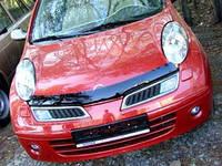 Дефлектор капота ( мухобойка )  Nissan Micra 2003-2010