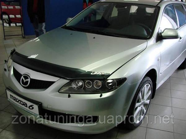 Дефлектор капота ( мухобойка ) Mazda 6 2005-2007