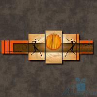 Модульная картина Африканское солнце из 5 фрагментов, фото 1