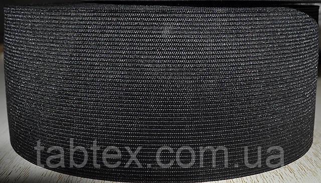Резинка  трикотажная 60мм.черная (25м) (китай)