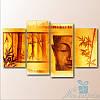 Модульная картина Будда из 4 фрагментов