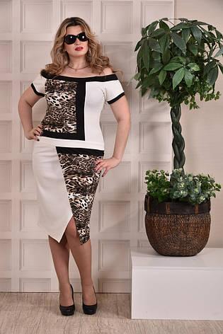 Модное платье больших 60+ размеров 0231 лео, фото 2