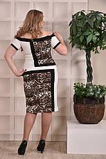 Модное платье больших 60+ размеров 0231 лео, фото 3