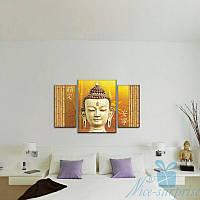 Модульная картина Триптих Будда из 3 модулей