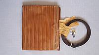 Антимоскитная сетка на магнитах в дверной проем, коричневая, 90*210 см