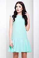 Платье CIL Билли; цвета: ментол | молоко,  состав:75% - хлопок, 20% - полиэстер, 5% - эластан
