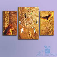 Модульная картина Ловец снов из 3 фрагметов (90х57), фото 1