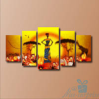 Модульная картина  Принцесса Африки из 5 фрагментов, фото 1