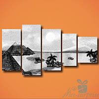 Модульная картина Чёрно-белая пустыня из 5 модулей, фото 1