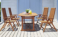Садовый комплект мебели Giardino (стол+4 стула)