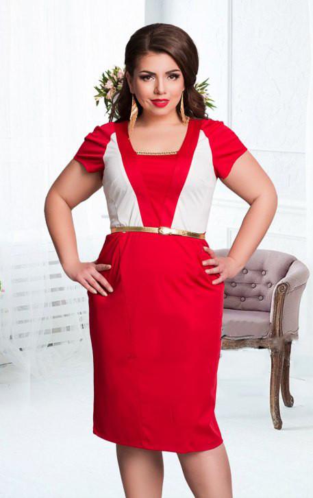Элегантное летнее платье больших размеров (в расцветках)