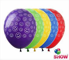 Воздушные шарики смайлики в кружочках ТМ Show