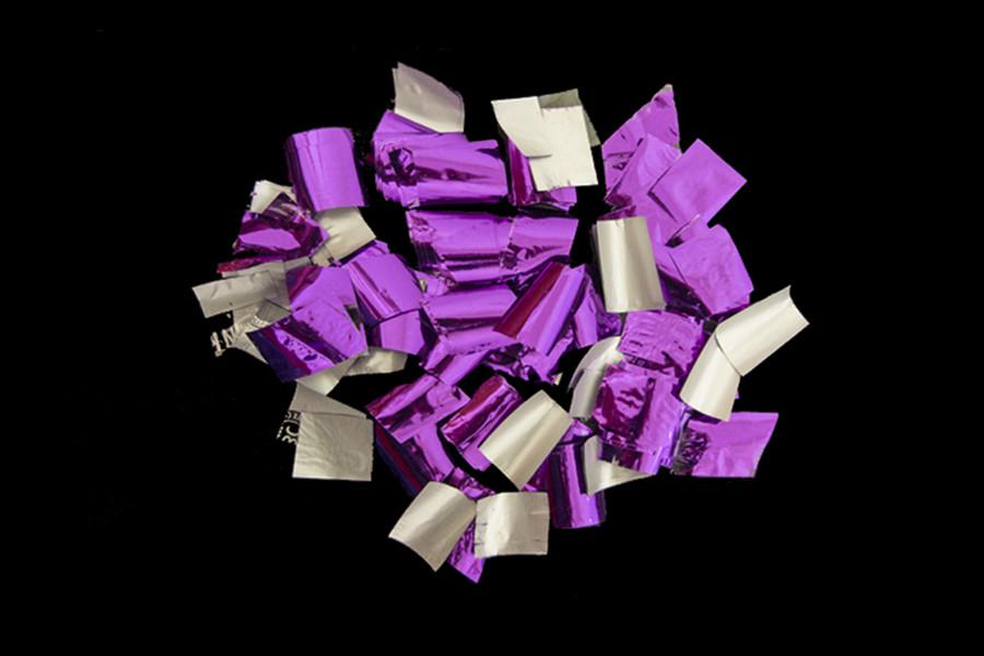 Конфетти-Метафан Фиолетовый блестящий (вторсырье) 1кг