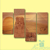 Модульная картина Фараон из 4 фрагментов, фото 1