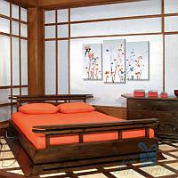 Модульная картина Японский стиль из 3 модулей (120х67)