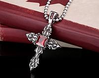 Двухсторонний Кельтский крест Лилия сталь 316L