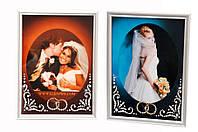 """Св.Фоторамка EL-10001 """"Свадебная"""", 13х18 см, кристаллы SWAROVSKI белые"""