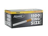 Гильзы  для сигарет 0401600 Atomic уп-ка 1000+100 шт., черная