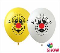 Воздушные шарики смайлики клоун ТМ Show