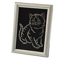 "Св.Картина EL-00002 ""Котенок"" 9х13 см, кристаллы SWAROVSKI белые"