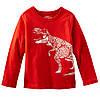 OshKosh Регланчик OshKosh красный Динозавр