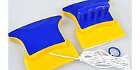 Магнитная щетка для мытья окон с двух сторон 3-8 мм, фото 1