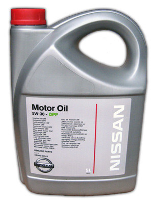 Синтетическое моторное масло Nissan 5w-30 DPF