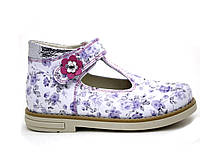 Туфли кожаные, летние для девочки на липучке ТМ FS collection. Размер 20-30