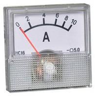 Амперметр панельный стрелочный 10А DC, фото 1