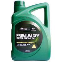 Синтетическое моторное масло Mobis Premium DPF  Diesel engine oil 6L