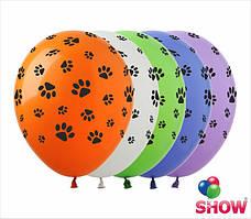 """Воздушные шары лапки пастель ассорти 12"""" (30 см)  ТМ Show"""
