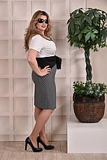 Трикотажное платье больших 60+ размеров 0242 полоска, фото 2