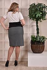 Трикотажное платье больших 60+ размеров 0242 полоска, фото 3