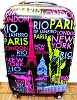 Чемодан пластик Travel 360* 228-60 средний Париж