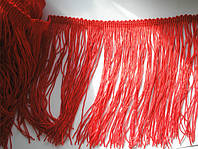 Бахрома красная 15см (не петля) (Длина нити 15см)