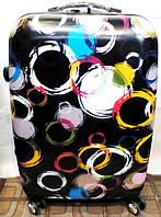 Чемодан пластик Travel 360* 229-60 средний Кольца