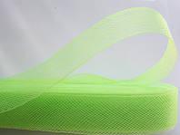 Салатовый регилин  40мм (В 1 мотке 22м (25ярд))