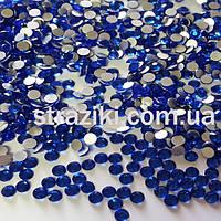 Ss16 Sapphire  No HotFix   (Стразы холодной фиксации имитация)