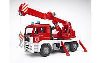 Игрушка - пожарный автомобиль с краном (свет и звук), Bruder 02770