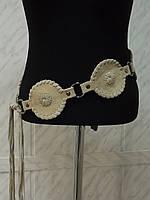 Красивый женский кожаный замшевый пояс ремень